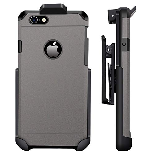 Type Belt Clip (ImpactStrong Compatible for iPhone 6/6s - Belt Clip Case Heavy Duty Dual Layer Extreme Protection Cover and Holster Belt Clip Combo (Gun Metal))