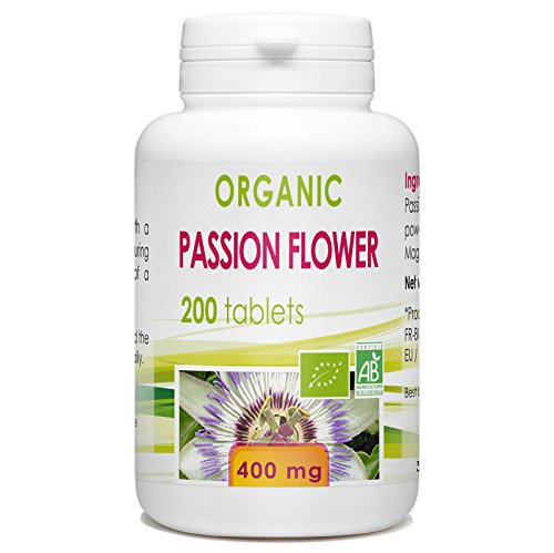 Organic Passion Flower 200 Tablets 400 Mg