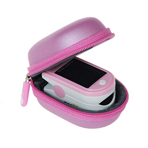Hermitshell Travel Case Fits Acc U Rate/Zacurate/Innovo Deluxe/Santamedical/Deluxe Blood Oxygen Saturation Monitor (Pink)