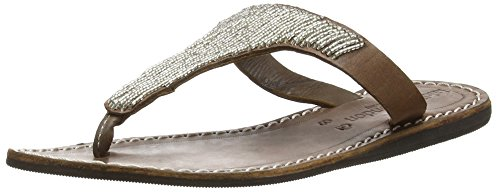 laidbacklondon 078ss16 Drifter Flat - Sandalias Mujer Plateado - Silber (choc/silver)