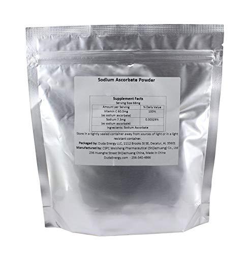 Sodium Ascorbate Powder, 5 lb Bag Food Grade FCC USP BIoActive Non-GMO Vitamin C Contains Ascorbic Acid