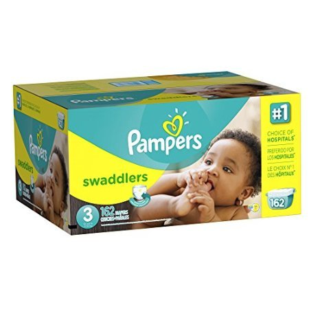 Pampers Swaddlers Diapers Size 3 Economy Pack Plus 162 Count by GGlittle