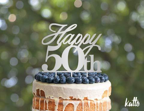 Decoración para tarta de 50 cumpleaños, 50 aniversario, 50 ...
