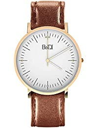Womens Watches Women Wrist Watch Waterproof Analog Watch with Second Hand & Brown Leather Quartz Watches for Women...