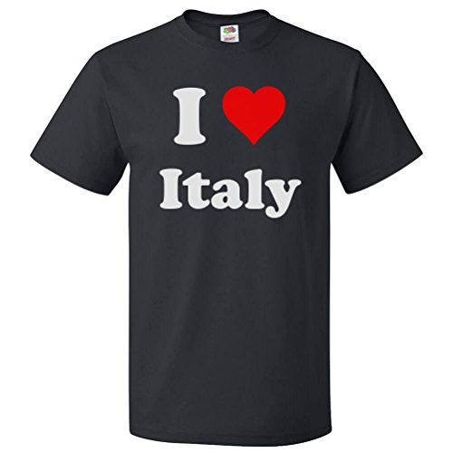 ShirtScope I Heart Italy T-shirt - I Love Italy Tee Small - Italy Heart