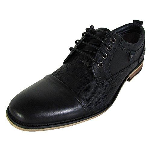 Steve Madden Men's Joffrey Oxford, Black Leather, 11 M US