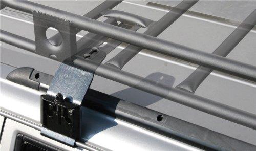 Smittybilt HD-4 Rain Gutter Clamps Incl. 4 Clamps/Upper Extension Bracket Rain Gutter Clamps