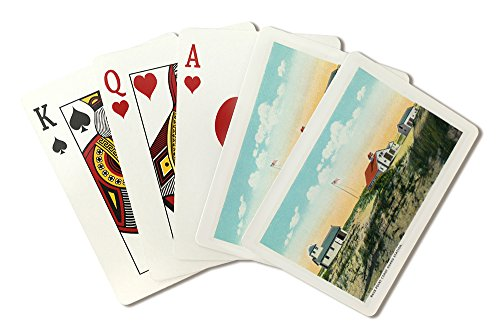 (Provincetown, Massachusetts - View of Race Point Coast Guard Station (Playing Card Deck - 52 Card Poker Size with Jokers))