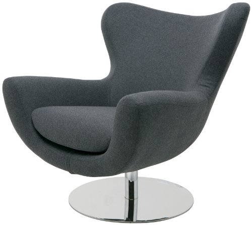 Wool Upholstered Swivel Lounge Chair price