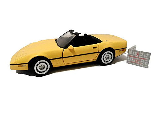 - FRANKLIN MINT 1986 Chevrolet Chevy Corvette Diecast 1:24 Scale MIB Yellow