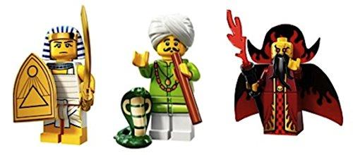 Egyptian Warrior, Snake Charmer, Evil Wizard: Lego Collectible Minifigures Series 13 Custom Bundle 71008