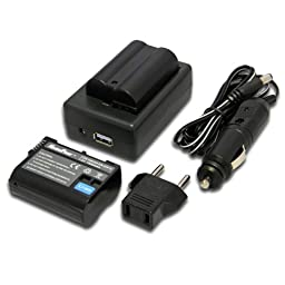 Maximal PowerFC500 Replacement Battery for NIK ENEL15+DB, NIK EN-EL15x2FC500 and NIK 2ENEL15 (Black)