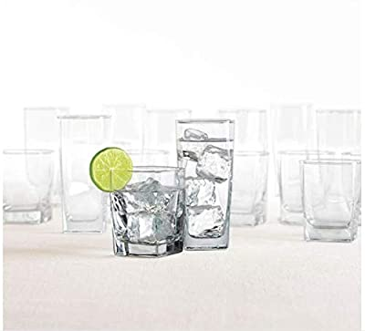Dailyware City Glass 16-Piece Drinkware Set