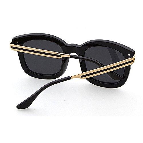 Aire Gafas de GWF Viajar de Sol Gafas al Gray polarizadas de UV protección Completo Libre Gafas para Sol Playa Personalidad Sol Estilo Marco Plata Color Conducir Retro La de Verano rSrwTY