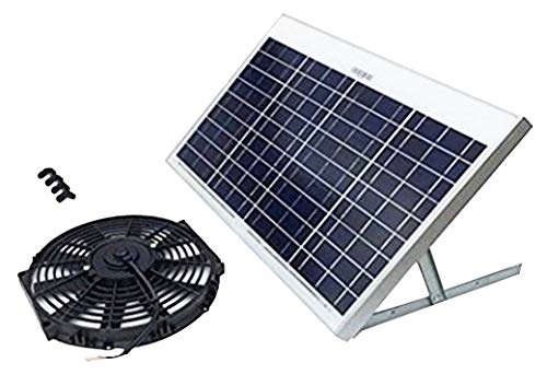 (Amtrak Solar's Powerful 40-Watt Solar Attic Fan Quietly Cools and ventilates Your House, Garage or RV and Protects Against Moisture Build-up)