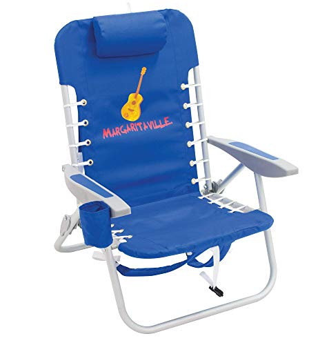 Chair Margarita - Margaritaville 4-Position Backpack Folding Beach Chair - Pacific Blue
