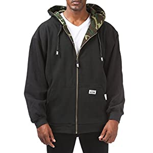 Pro Club Men's Full Zip Reversible Fleece and Thermal Hoodie 5