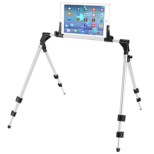 ieGeek Extensible Tablet Phone Stand for Bed Sofa Desk, Adjustable and Foldable Holder Fit for iPad iPhone Cellphone Tablet Kindle in Bedroom Kitchen Floor, Aluminum, fit 12.9inch PAD