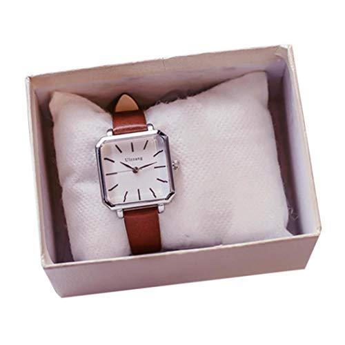Ladiy Women Fashion Artificial Leather Band Analog Quartz Wrist Watch Bracelet Bangle Wrist Watches