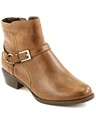 Comfortiya Women's Christine Leather Fashionable Casual Ankle Boot