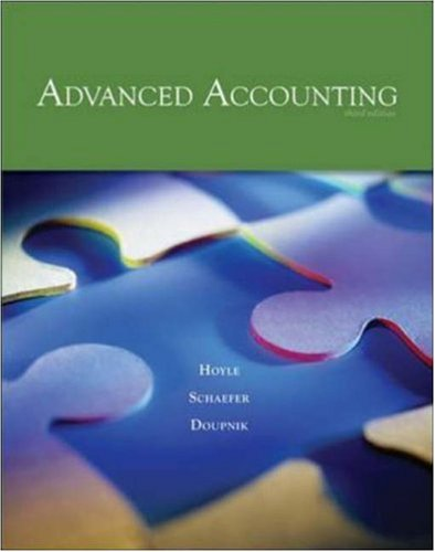 Advanced Accounting -