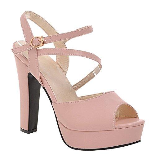 Donna Misssasa Toe Sandali Peep Rosa Elegante 6fnxfwrP