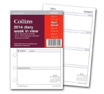 Collins 2014 - Hojas de recambio para agenda con vista ...