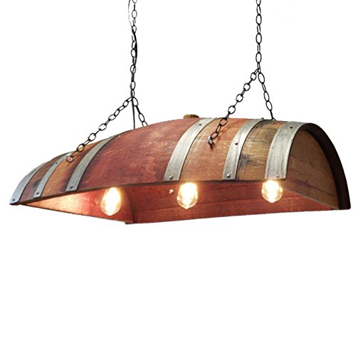 (Wine Barrel Hanging Lamp Chandeliere Wine Barrel Furniture Central Coast Creations)