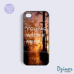 iPhone 4 4s Case - Forest Young WIld Free iPhone Cover