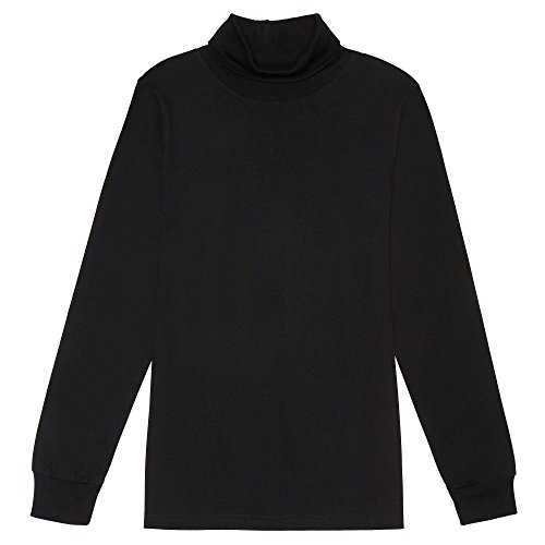 French Toast Boys' Big Turtleneck, Black, XL -