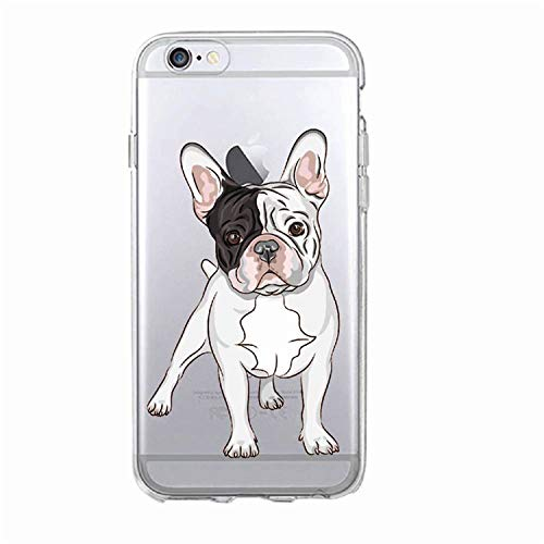 Puppy Pug Bunny Cat Princess French Bulldog Soft Phone Case Cover Coque Funda for iPhone 7 7Plus 6 6S 8 8Plus X XS Max Samsung 10 for iPhone 7 8 -