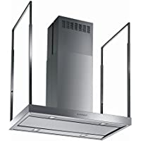 Futuro Futuro Europe 48 Inch Island-mount Range Hood, Contemporary Stainless Steel Design, LED, Ultra-Quiet, with Blower