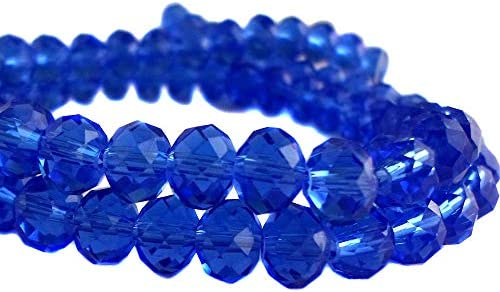 4mm 6mm 8mm Beads ~ Wholesale Faceted Rondelle Crystal Glass Beads Royal Blue