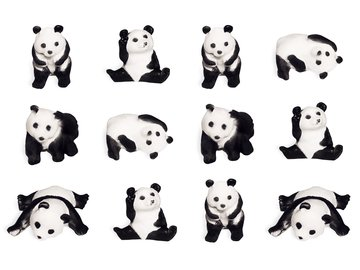 Panda Party Toppers 12 Pack (Wedding Invitation Plate)
