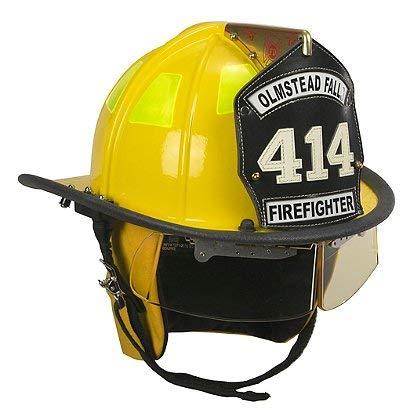 Cairns Yellow 1010 Traditional Fiberglass Helmet, NFPA, OSHA - 1010 w/4