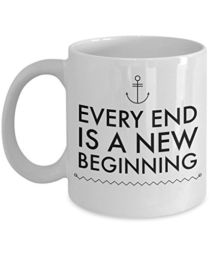 Coworker Leaving Gifts Prime - Every End is a New Beginning Coffee Mug, Congrats On Your New Job, Colleague Co worker Inspirational Farewell Goodbye Parting Gift Ideas, 11 Oz Coffee Cup