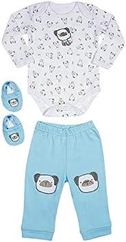 Kit 3 Pecas Body, Calça e Meia, TipTop, Bebê Unissex