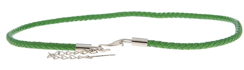 EOZY 5 Stück Süß Schmal Gürtel Damen für Kleider/Hemd Länge:75cm (#10 Grün)