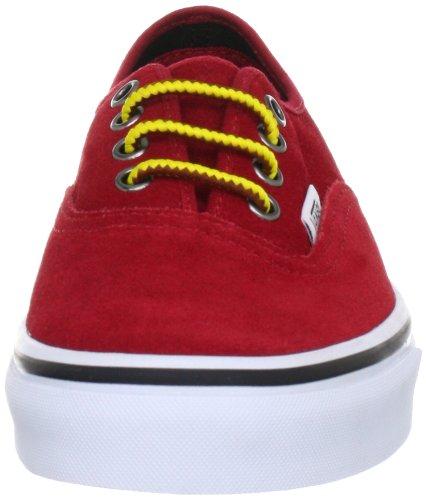 Vans Authentic VQER71K - Zapatillas de deporte de ante unisex Rojo
