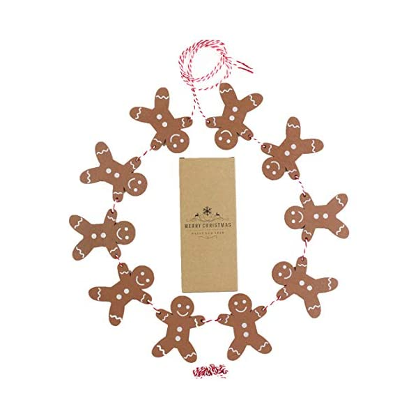 Heaven Sends Legno Gingerbread Man Ghirlanda Natalizia Decorazione, 2M 7 spesavip