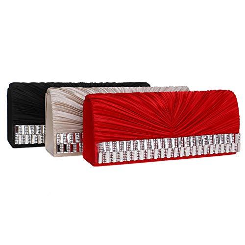 Womens Purse Evening Clutches Party Bags Chain Black For Elegant Wallet Handbags BHIIwaxq