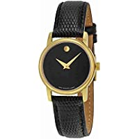 Movado 2100006 Museum Gold Tone Women's Watch (Black)