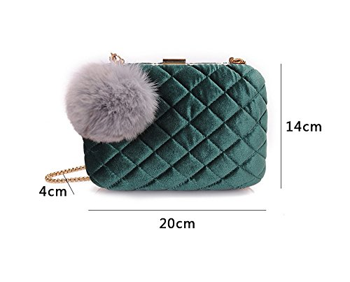 Bag Diagonal Bag Ladies Hand Color Fashion Packet Ball Evening Brown Bag Clutch Banquet Black Bag Hair awqUUdX