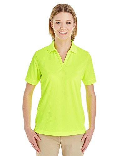 Averill's Sharper Uniforms Women's Ladies Textured Athletic Mesh Polo Shirt XL Safety Yellow