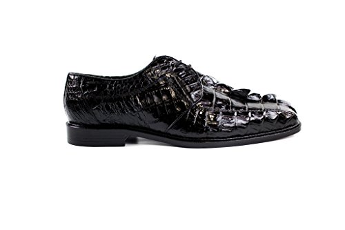 Belvedere Mens Colombo Genuine Hornback Tail Derbys, Black, 13 Medium (1494) Tail Eel