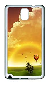 Hot Air Balloons Custom TPU Soft back Case for Samsung Galaxy Note 3 / Note III / N9000 White