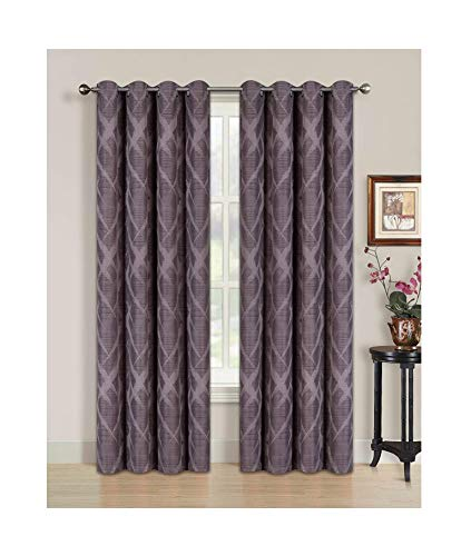 All American Collection Blackout Curtain with Brushed Diamond Pattern | 84