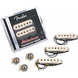 Fender Vintage Noiseless Stratocaster Pickups Set White, 3 Pickups on