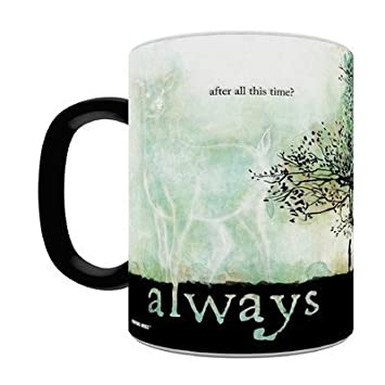 Morphing Mugs Harry Potter Severus Snape - Always Quote Heat Reveal Ceramic Coffee Mug - 11 Ounce