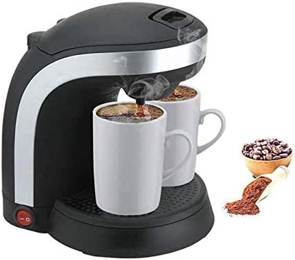 Máquina de café con 2 tazas gratis - Mini 2 tazas Expresso Filtro portátil Cafetera/Tetera: Amazon.es: Hogar